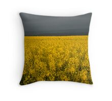 Oil Seed Rape Field Throw Pillow