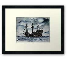 Captain Memo's Pirate Ship Painting Clearwater Florida Framed Print