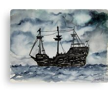 Captain Memo's Pirate Ship Painting Clearwater Florida Canvas Print