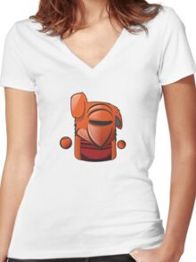 red guard wabbit Women's Fitted V-Neck T-Shirt