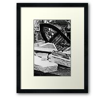 Weight of Time Framed Print