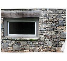 rock wall window Poster