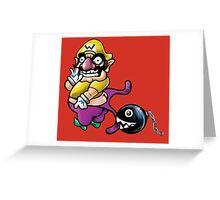 Wario Coppertone Ad Greeting Card