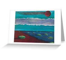 Bay of Green Bagels Greeting Card