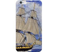 HMS Boreas Leaving Gibraltar - Capt Horatio Nelson iPhone Case/Skin