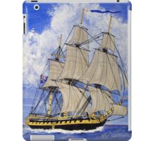HMS Boreas Leaving Gibraltar - Capt Horatio Nelson iPad Case/Skin