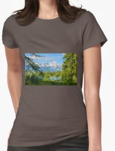 Pyramid Lake Canadian Rockies Womens Fitted T-Shirt
