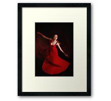Red dance Framed Print