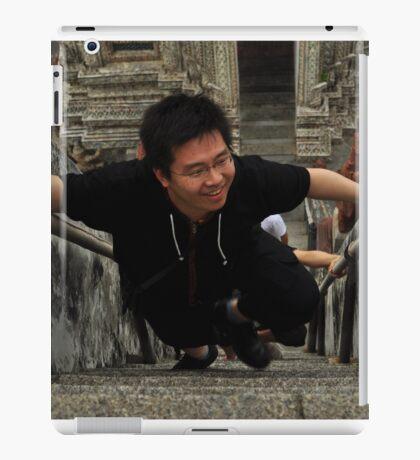Asian Guy Coming Up iPad Case/Skin