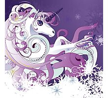 Winter Unicorn Photographic Print