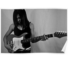 girl playing guitar Poster