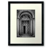 Portoni / Building Doors - Study 2 Framed Print