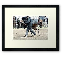 Amish Boy with Foal Framed Print