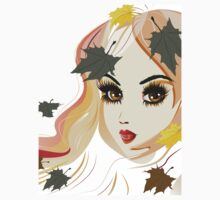Autumn Girl face Kids Tee