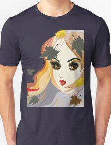 Autumn Girl face Unisex T-Shirt