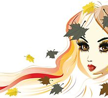 Autumn Girl face by AnnArtshock