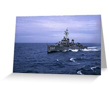 USS Wren DD 568 Greeting Card