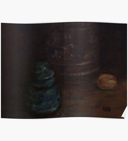 Old insulator and cookie jar Poster