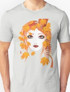 Autumn Girl face 2 Unisex T-Shirt