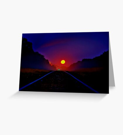 """Railway to the Moon"" Greeting Card"