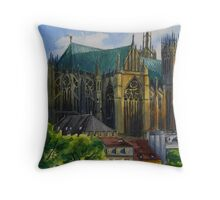 Portrait of a Cathedral - Metz Throw Pillow