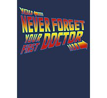 You Never Forget Your First Doctor - Doc Brown Photographic Print