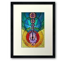 crown chakra opening Framed Print
