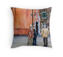 The Three Men of Burano Throw Pillow