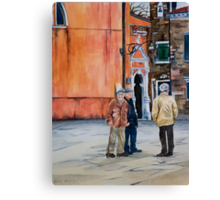 The Three Men of Burano Canvas Print