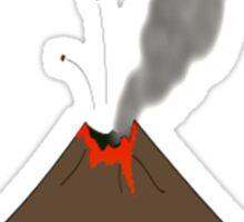 Cartoon Volcano Sticker