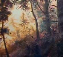 Crop of an unfinished painting by Charles  Burggraf