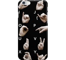 Sign Language American alphabet iPhone Case/Skin