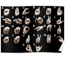 Sign Language American alphabet Poster