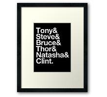 Helvetica- The Avengers Framed Print