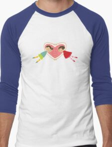 Valentine Love Boy Hearts Girl Men's Baseball ¾ T-Shirt