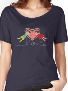 Valentine Love Boy Hearts Girl Women's Relaxed Fit T-Shirt