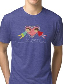 Valentine Love Boy Hearts Girl Tri-blend T-Shirt