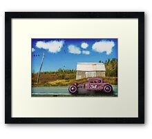 Cruising by the Old Barn Framed Print