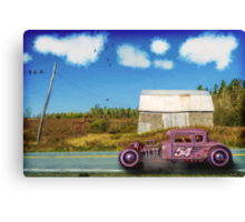 Cruising by the Old Barn Canvas Print