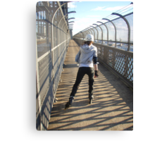 Girl rollerblading / inline skating across the Sydney Harbour Bridge - rollerbladingsydney.com Canvas Print