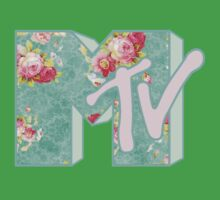 MTV Logo (green floral) Kids Clothes