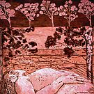 """Nude in the Outback - Copper plate etching by Belinda """"BillyLee"""" NYE (Printmaker)"""