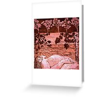 Nude in the Outback - Copper plate etching Greeting Card
