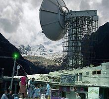 Construction of the Pakistani Starfleet Deepspace Telebeam Tower in Peshawar by Kenny Irwin