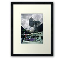 Construction of the Pakistani Starfleet Deepspace Telebeam Tower in Peshawar Framed Print