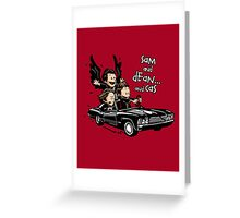 Sam and Dean...and Cas! Greeting Card