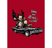Sam and Dean...and Cas! Photographic Print