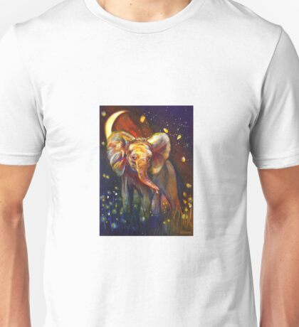 Elephant at Night Unisex T-Shirt