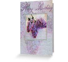 lilac brithday card Greeting Card