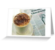 Cappuccino Greeting Card